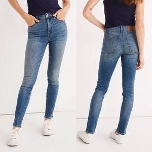 """Madewell 10"""" High Rise Skinny Jeans Stud Edition"""